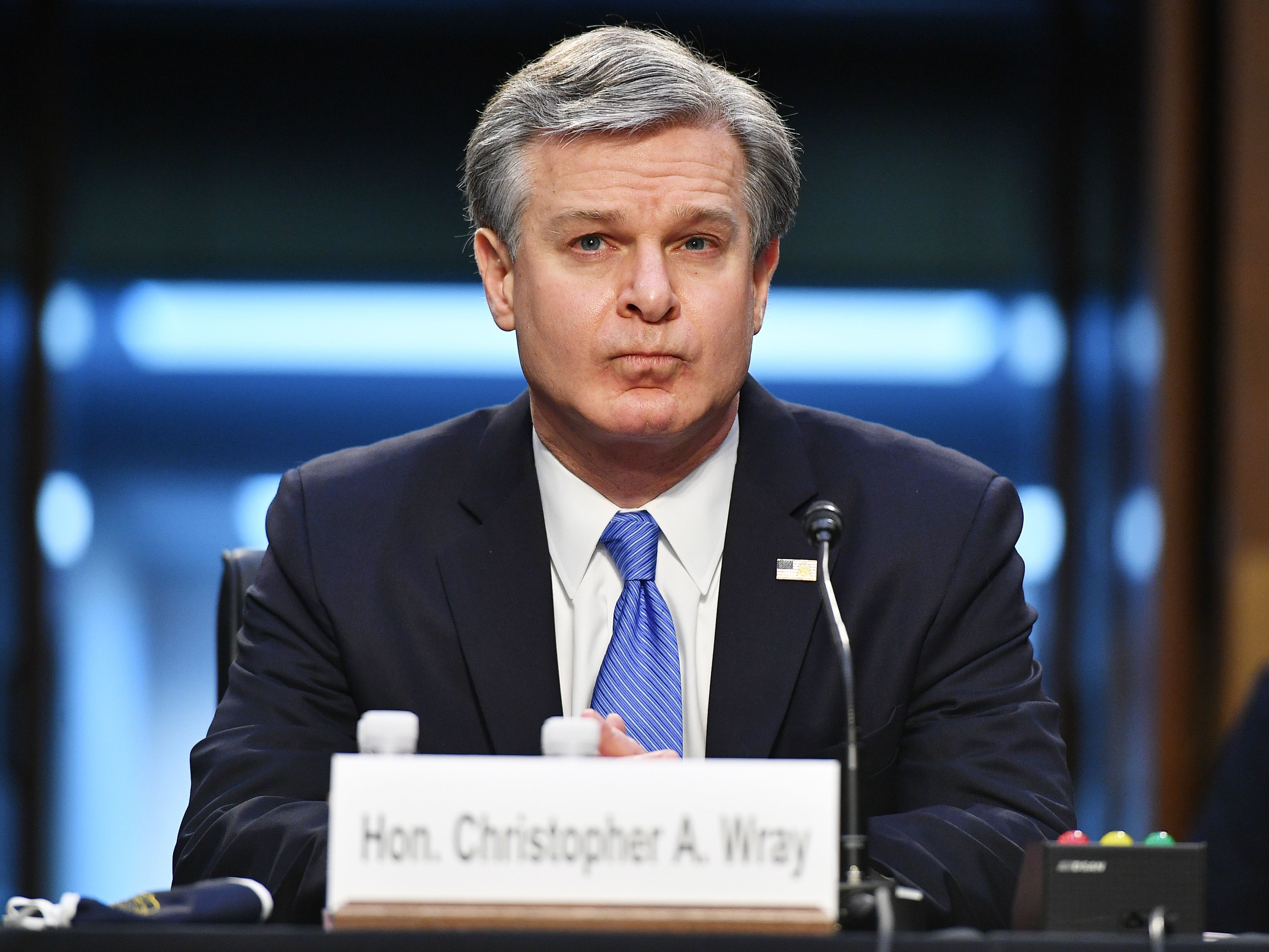 Wray Stresses Role Of Right-Wing Extremism In Hearing About Jan. 6 Riot
