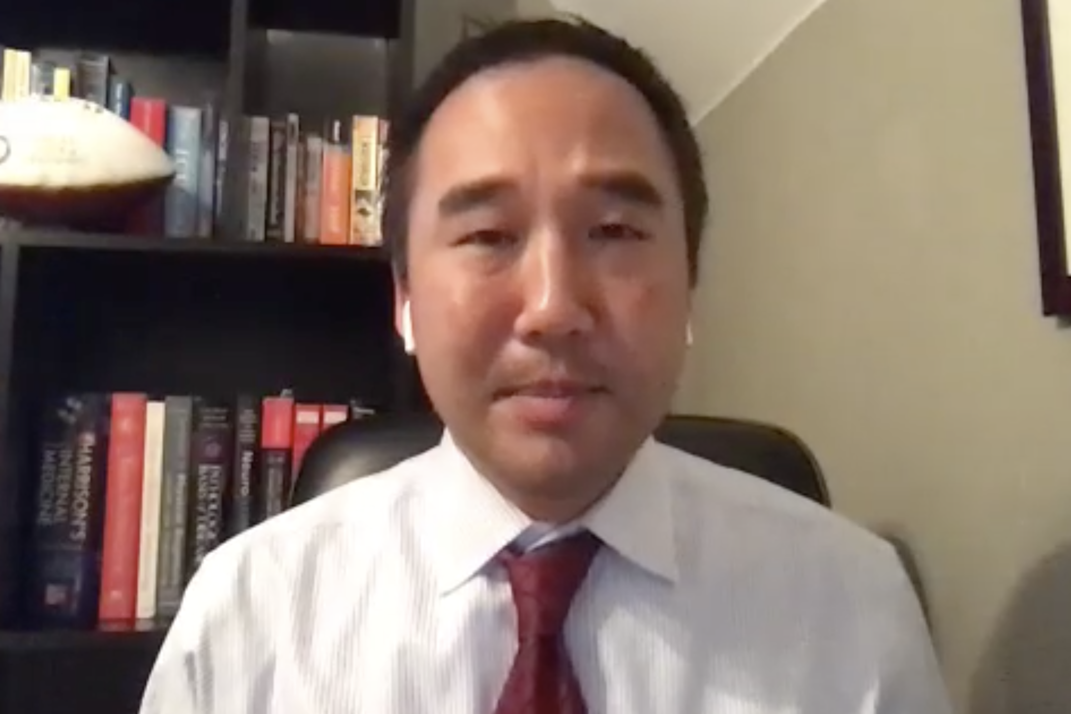 On a video conference Thursday morning, Emory University's Dr. Jonathan Kim discussed the implications of myocarditis, the heart condition linked to professional and college athletes with COVID-19.