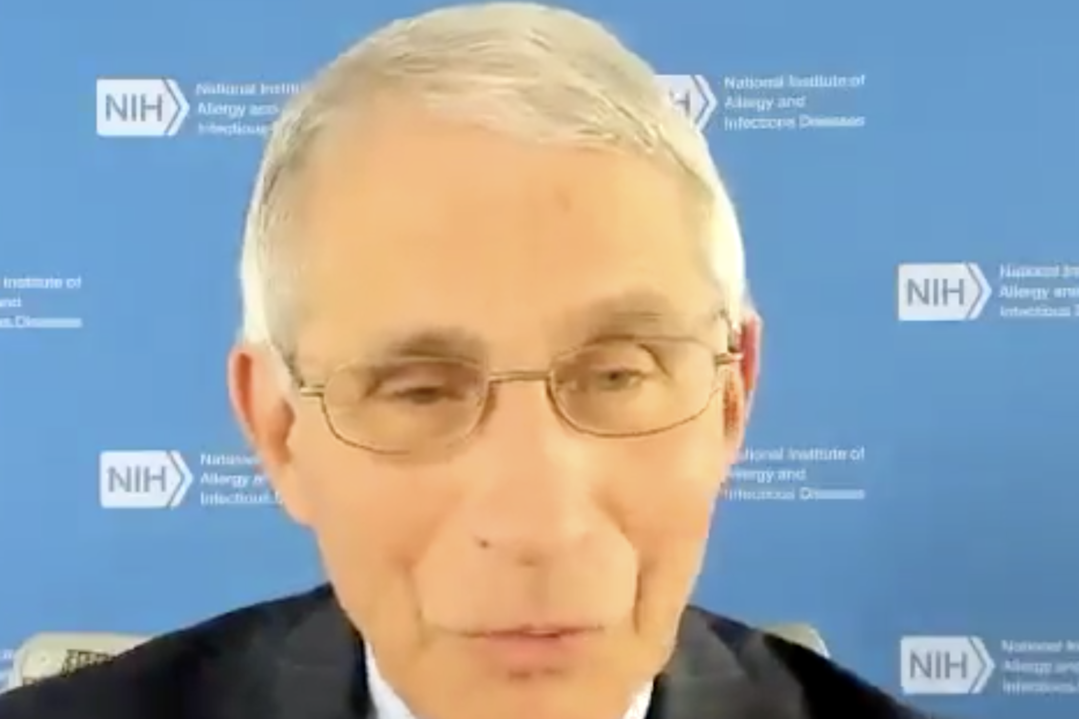 Dr. Anthony Fauci speaks during the Emory University-hosted webinar Thursday afternoon.