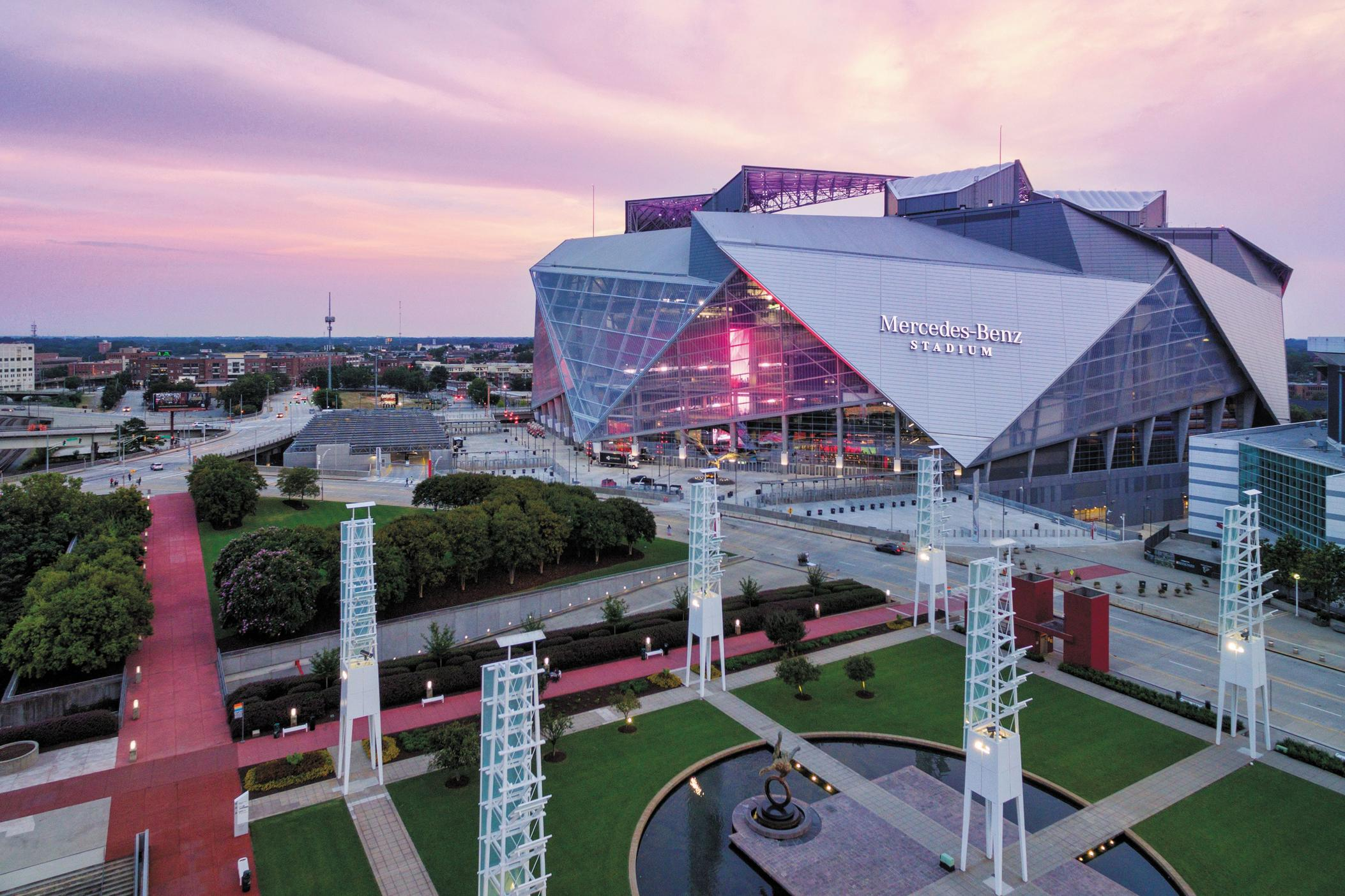 Mercedes-Benz Stadium. Photo by David Kosmos Smith courtesy of AMBSE Creative