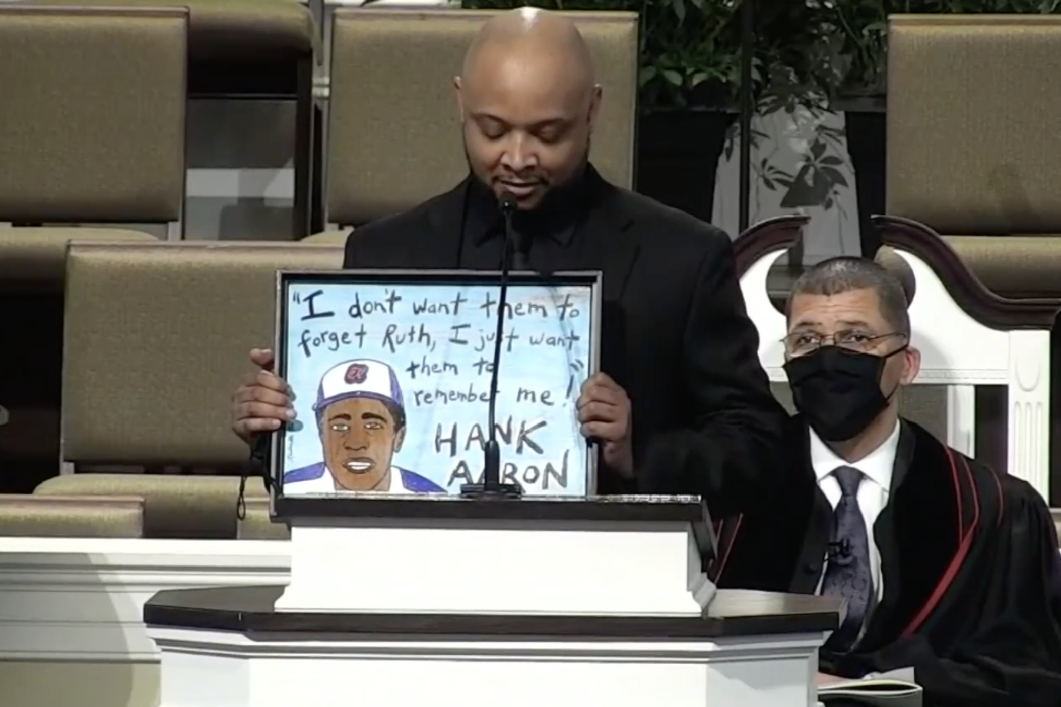 Raynal Aaron, Hank Aaron's grandson, shared memorable quotes from his grandfather at Wednesday's funeral service.