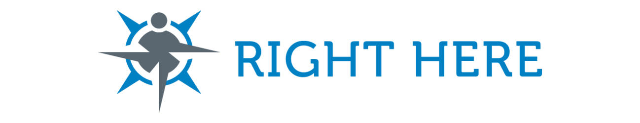 Right Here banner