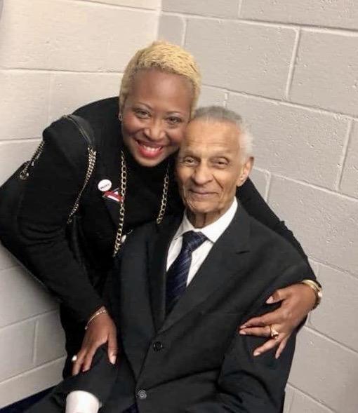 Rhonda Briggins with the Rev. C.T. Vivian at an Atlanta event.