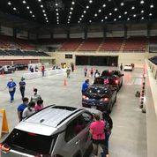 Coronavirus testing site at the Savannah Civic Center