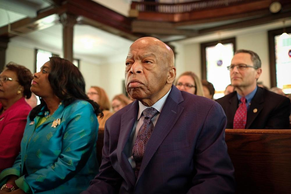 A file photo of the late Congressman John Lewis.