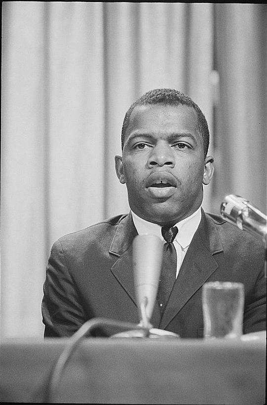 John Lewis, in his early days as an activist.