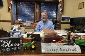 Rep. Terry Englund in his office at the Georgia State Capitol