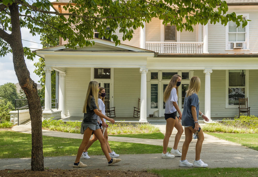 Georgia College and State University students on campus in MIlledgeville early for sorority rush.