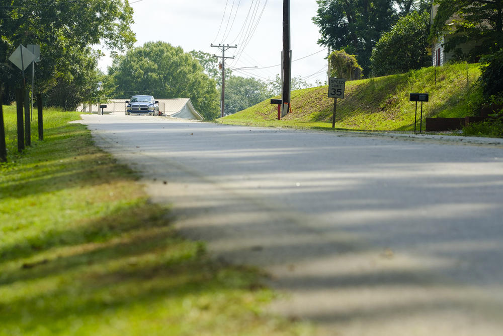 The stretch of Deepstep Road where Eurie Martin first encountered sheriff's deputies in 2017.