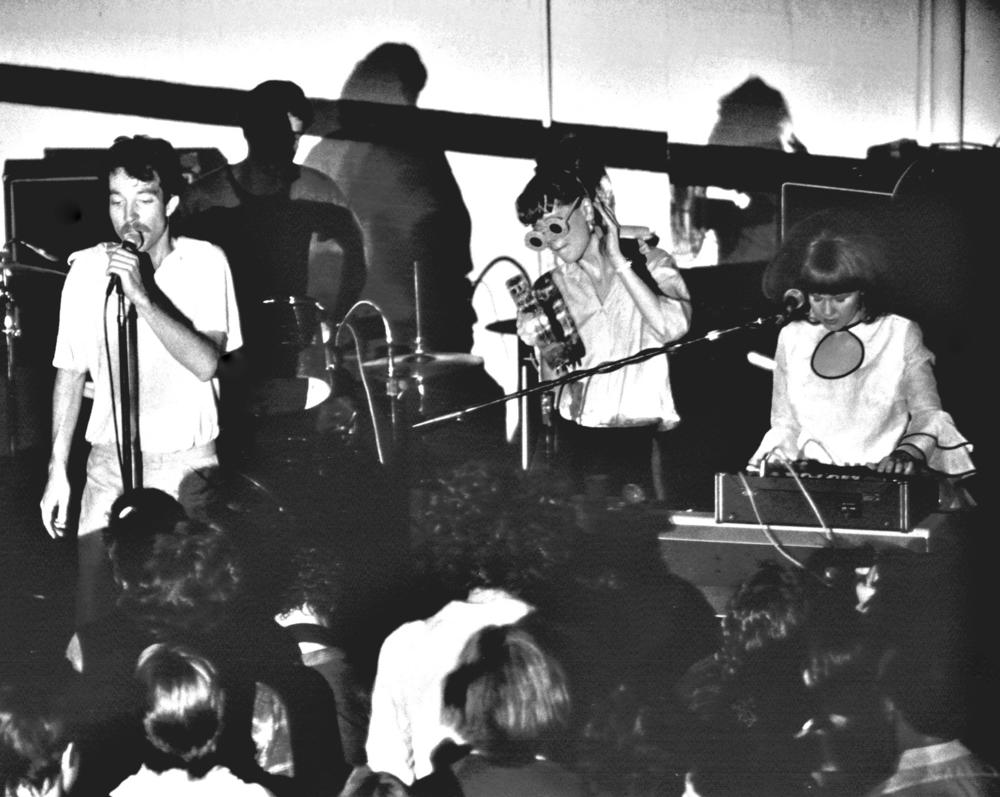 The B-52's perform at Memorial Hall on the campus of the University of Georgia in November 1978.