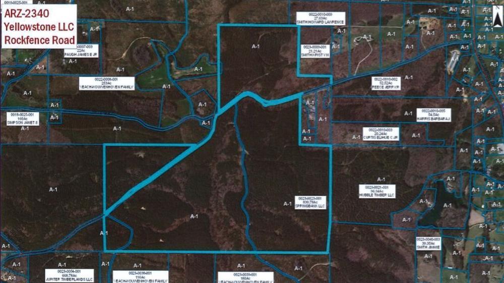 Yellowstone Mining is seeking a zoning change to allow mining near Adairsville.