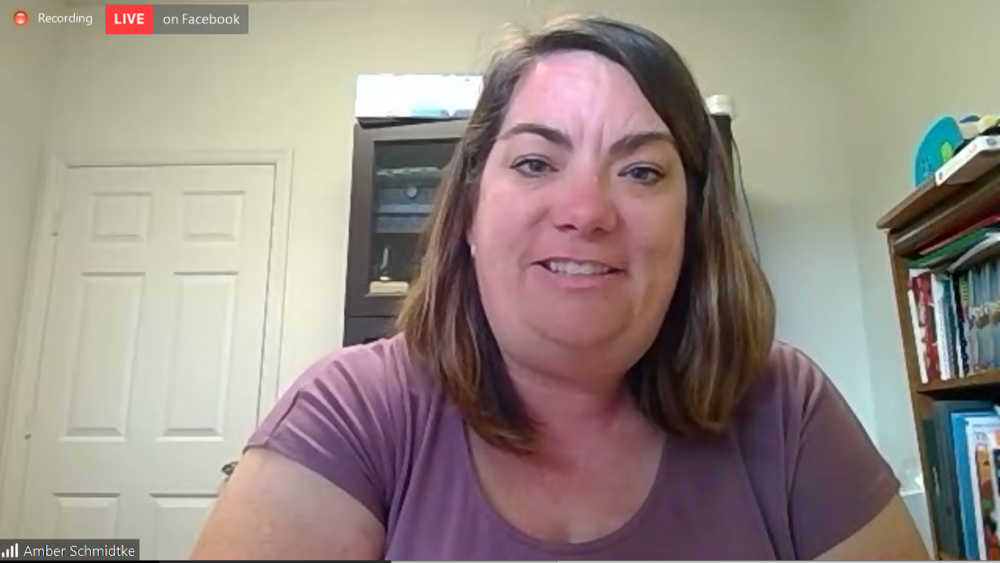 Amber Schmidtke during a virtual town hall Aug. 28, 2020
