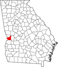 Map showing Chattahoochee County