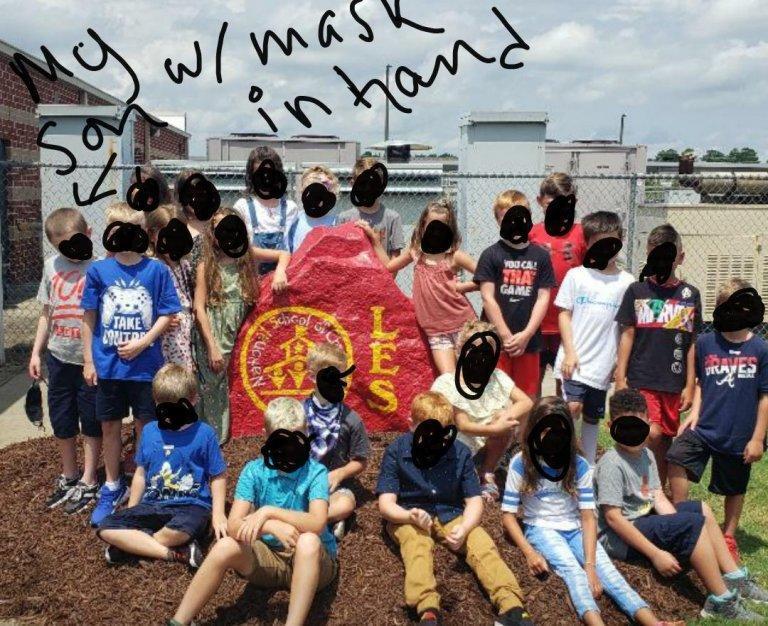 Third grade class without masks