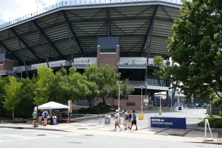 Saturday the north end zone entrance to Bobby Dodd Stadium served as a COVID-19 testing station. Georgia Tech and the rest of the state's major college football programs are hoping they'll start playing a season in some form starting next month.