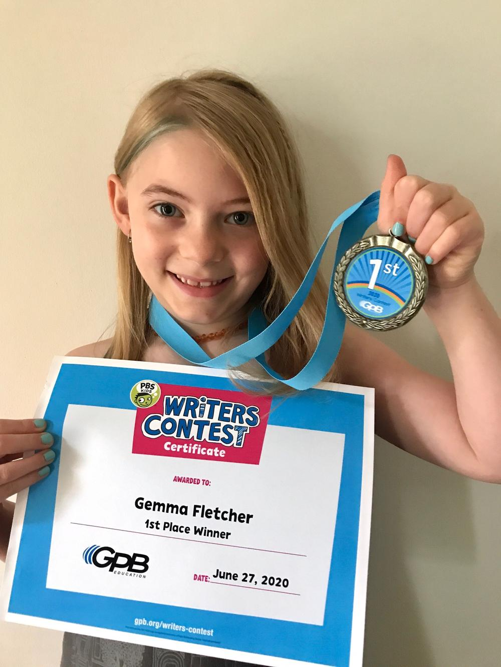 Gemma with award
