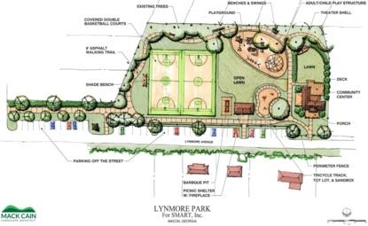 Rendering of proposed park on Lynmore Avenue.