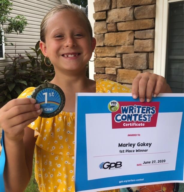 Marley Gokey with award