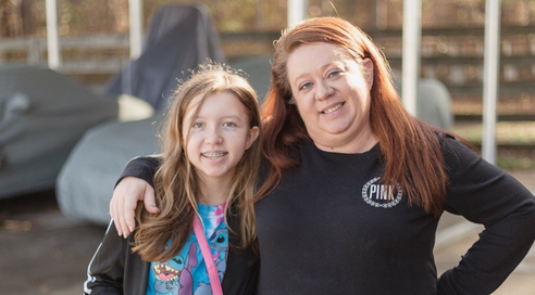 Alexis Osterhout and her mother, Stephanie Osterhout in January 2020.