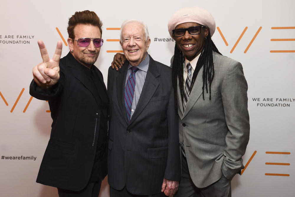 President Carter with Bono and Nile Rodgers