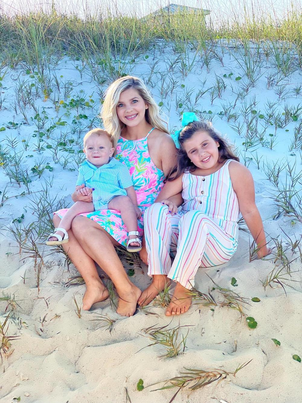 Breanna Kinlaw with son, Langston, and daughter, Bella.