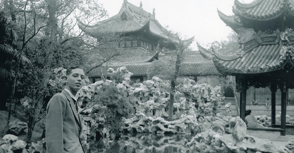 Horst Eisfelder at a Chinese Temple Garden in Sinza Road.