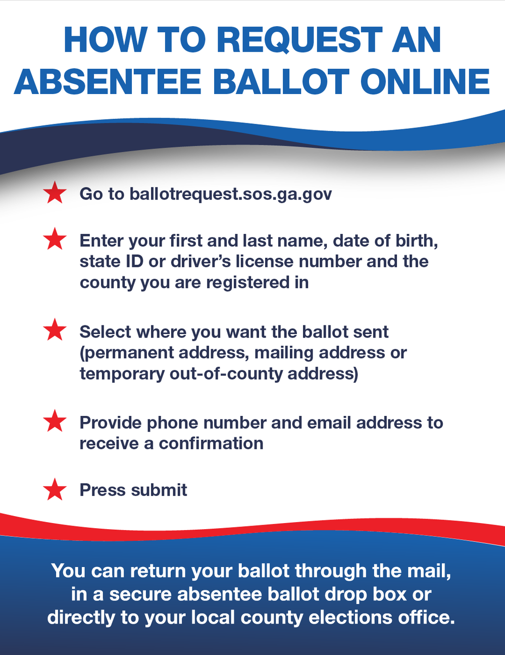 How to request an absentee ballot online in Georgia.