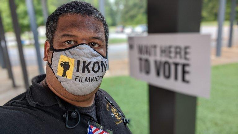 Atlanta's James Hammond is among 14,600 Georgians who have signed up as poll workers for November's election.