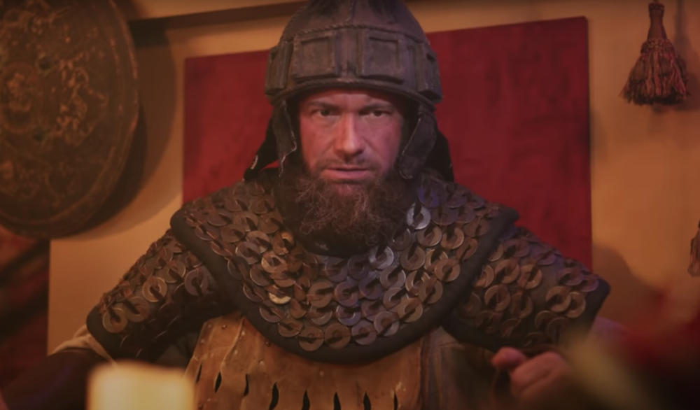 "A new campaign ad for Sen. Kelly Loeffler claims she is ""more conservative than Attila the Hun,"" who is depicted by an actor in the ad."