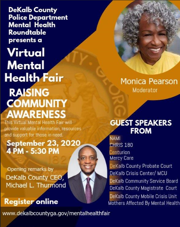 poster for DeKalb Conty mental health fair