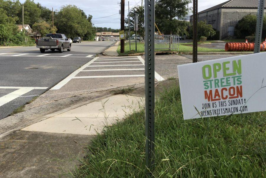 Open Streets sign on a Macon street.