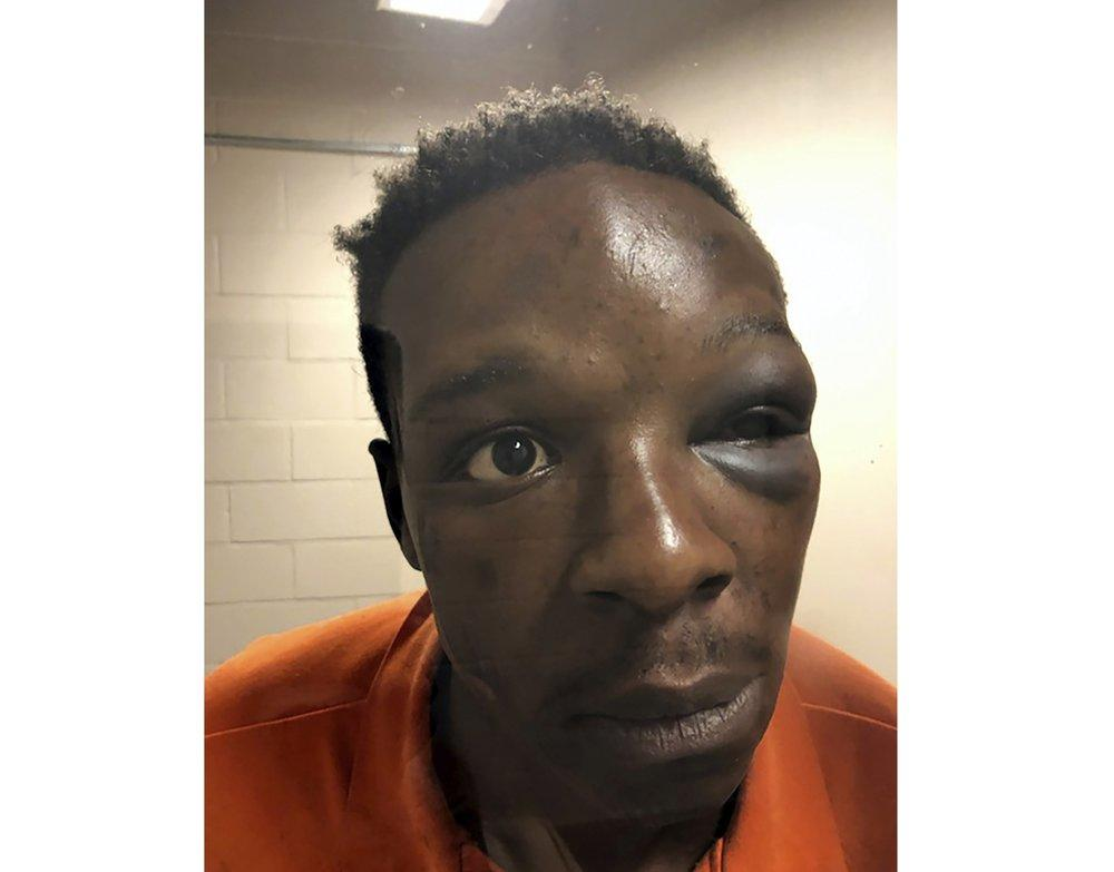 This photo provided by The Cochran Firm shows Roderick Walker at the Clayton County Jail in Jonesboro, Ga.