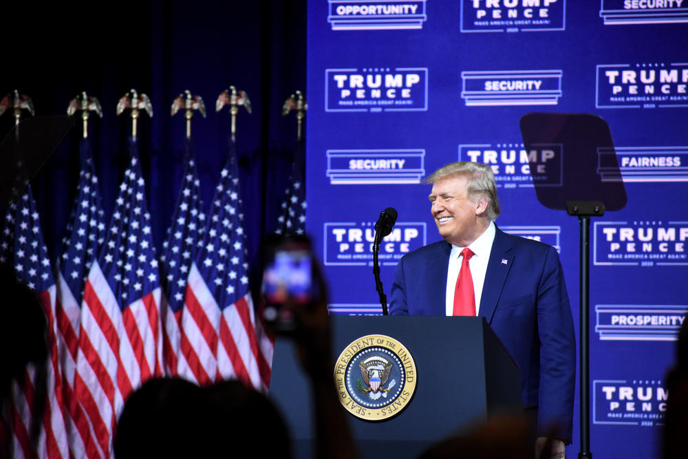 President Donald J. Trump speaks in Cobb County about his Black empowerment plan.