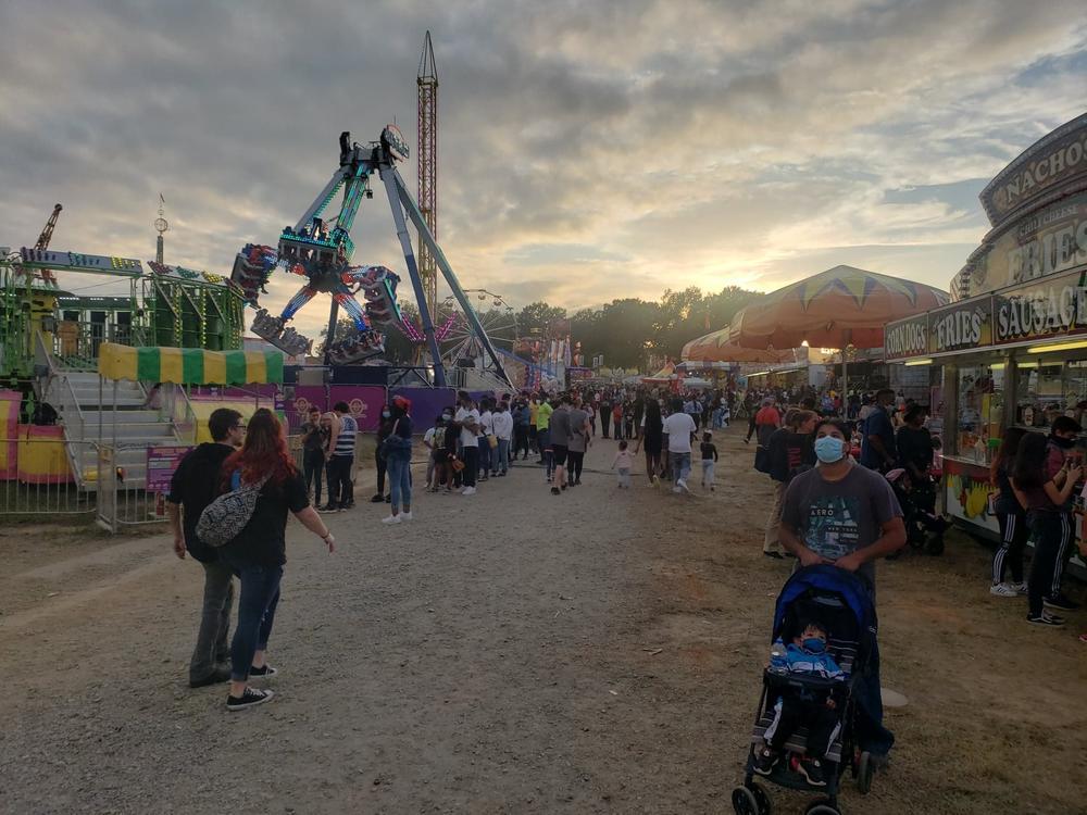 Crowds attend the 2020 Georgia State Fair.