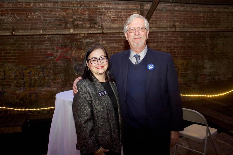 Deborah Gonzalez with her husband Bob Scott