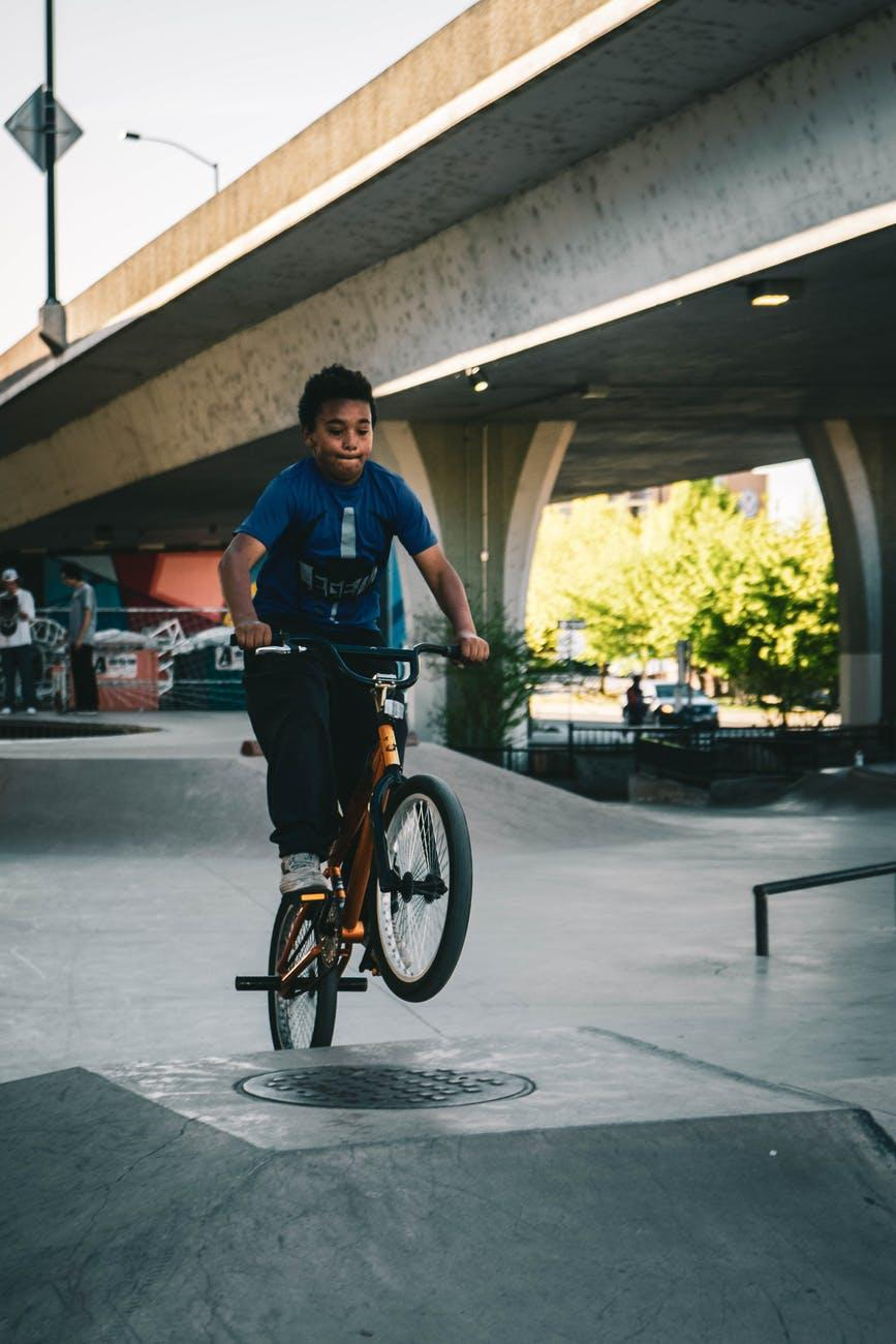 Kid riding bike