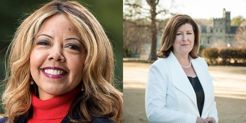 U.S. Rep. Lucy McBath (left) is battling to keep her seat against a challenge from its former occupant, Karen Handel (right), in the Nov. 3 general election.
