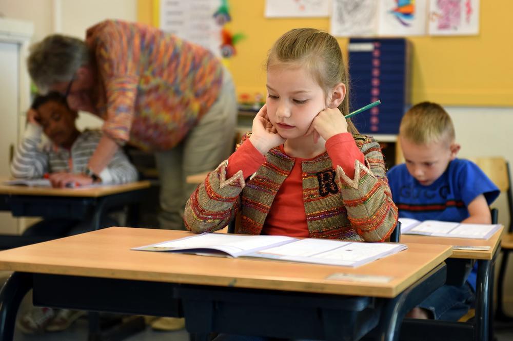 Kids taking tests