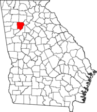Map with Cobb County