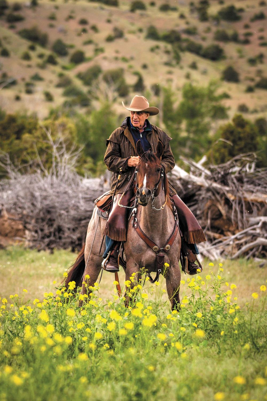 Arthur Blank on horseback