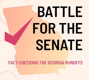 Battle for the Senate logo from FactCheck.org