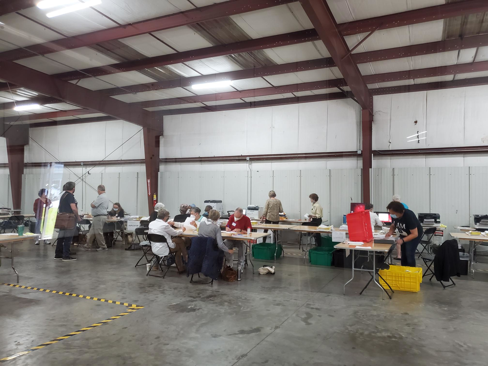 Savannah Board of Elections workers continued to count absentee ballots on Thursday, November 5, 2020