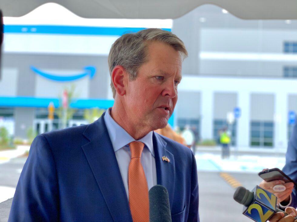 Gov. Kemp at a recent economic development announcement.