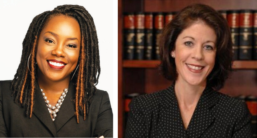 New Chatham County District Attorney Shalena Cook Jones and former Chatham District Attorney Meg Heap