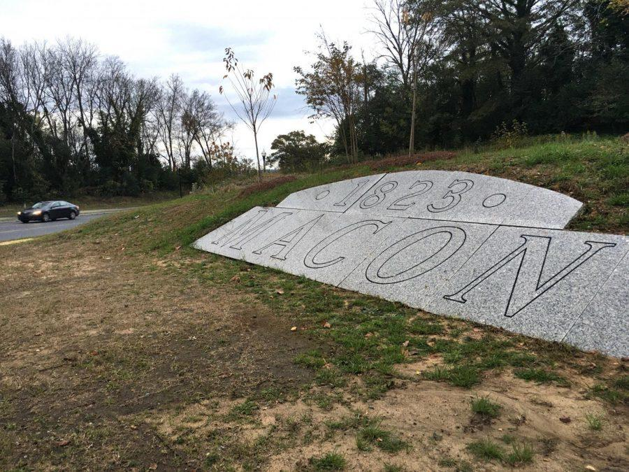The old Macon welcome sign designed to greet visitors to the 1996 Centennial Olympic Games is now a gateway on Little Richard Penniman Boulevard to the Second Street Corridor entrance to downtown Macon.