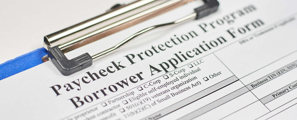 An application for the Paycheck Protection Program is pictured.