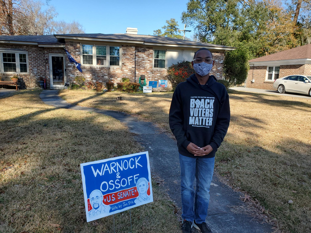 Savannah resident Dorian Hamilton, 18, voted in the Jan. 5 runoffs as a brand-new voter who was too young to cast a ballot in November's election.