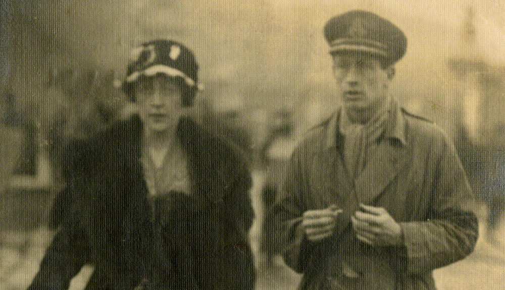 Agatha Christie with her first husband, Archie Christie