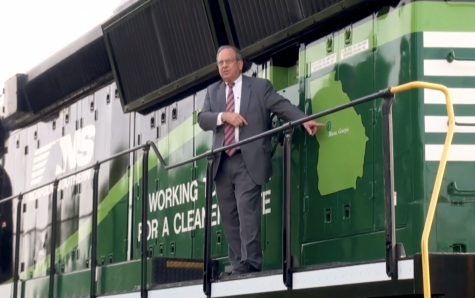In 2019, Macon-Bibb County Mayor Robert Reichert welcomed Norfolk Southern's eco locomotives designed to improve air quality.