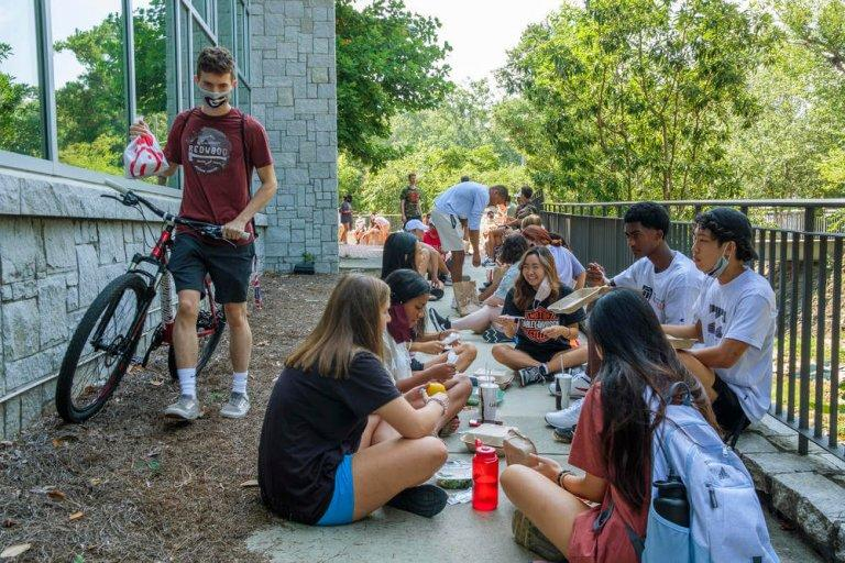 Last semester, University of Georgia freshmen ate lunch behind one of the main dining halls where inside dining was by reservation only. A prompt return to face-to-face learning was a top priority for retiring University System of Georgia Chancellor Steve Wrigley.